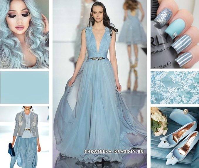 gray-blue color in clothes