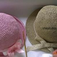 Вяжем шляпку из рафии крючком