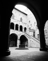The courtyard of the Bargello Museum. Short opening hours (closes around 1:00 pm) but well worth the effort to go, especially if statuary interests you.
