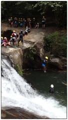 Highest jump in canyoning.