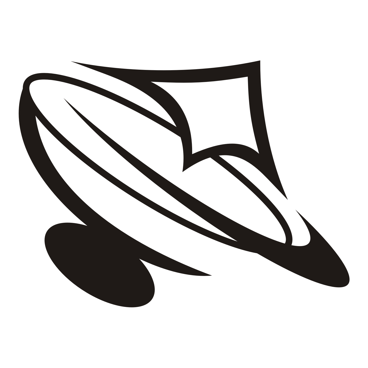 Vector For Free Use Satellite Dish Logo
