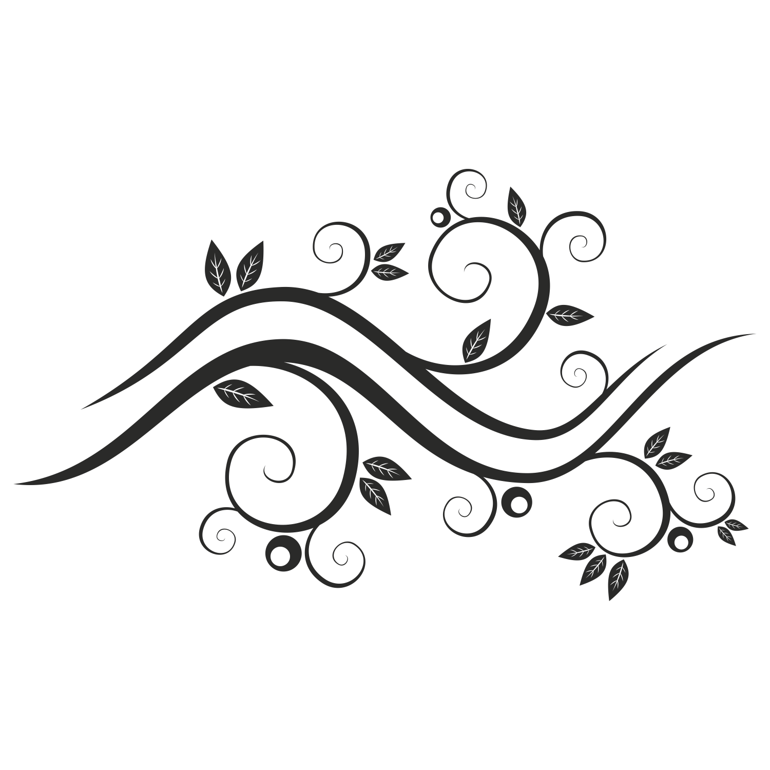 Vector For Free Use Abstract Floral Waves