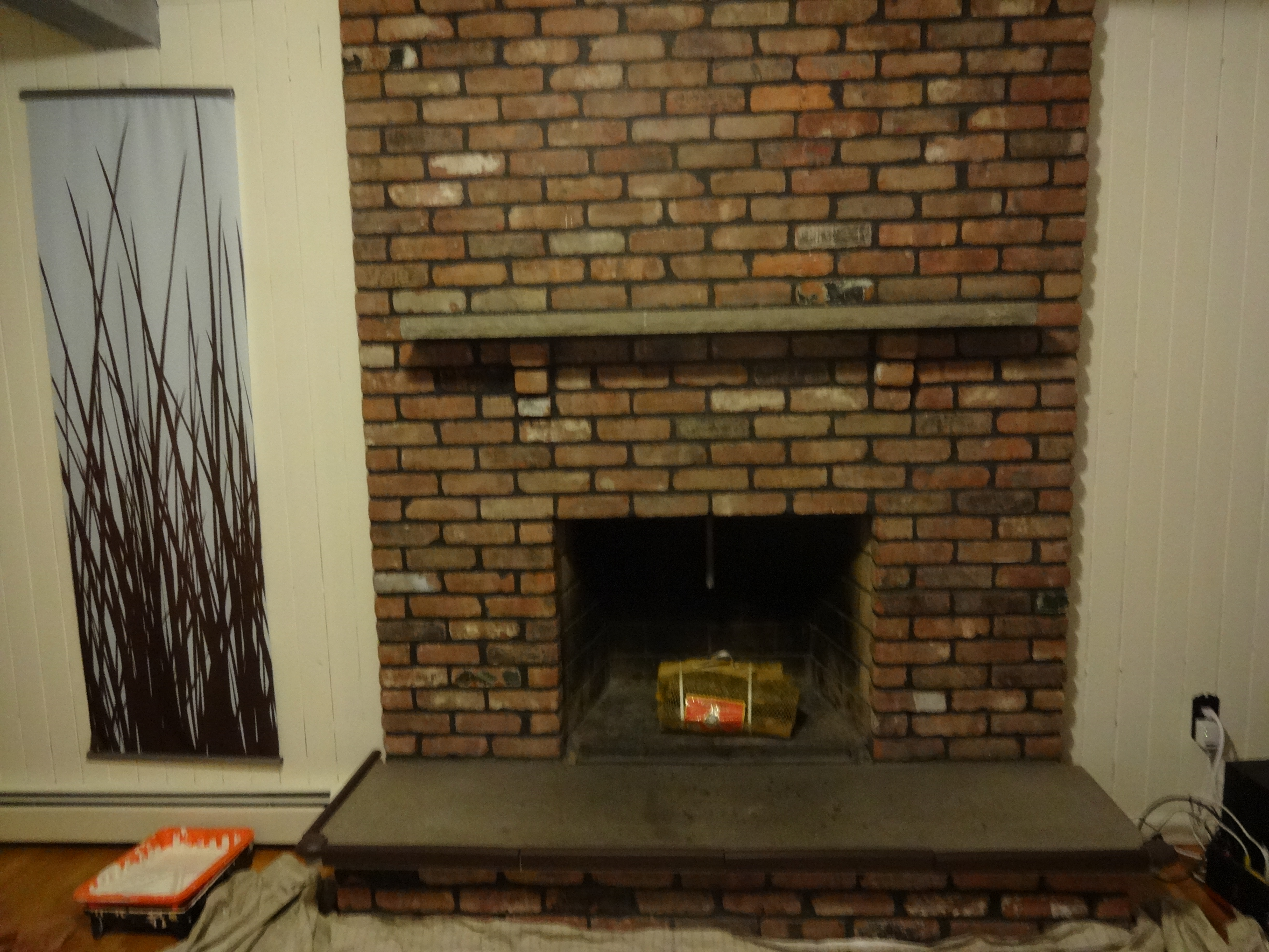 Painting Fireplace White