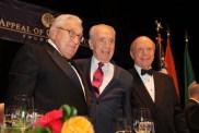 Henry Kissinger, Shimon Perez and Rabbi A. Schneier