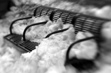 snowed in bench