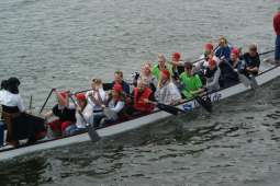 12. Drachenboot Fun-Cup im Kreishafen Rendsburg am 14. September 2013