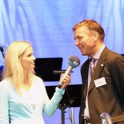 Maike Jäger im Gespräch mit Helge Spehr, Geschäftsführer der Stadtwerke Rendsburg GmbH