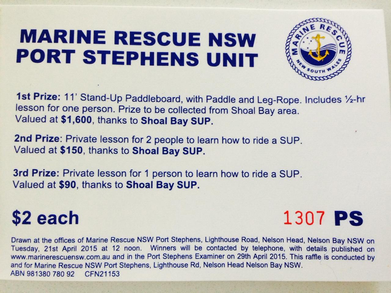 Marine rescue raffle