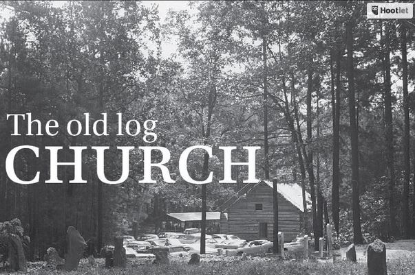 Old Log Church article