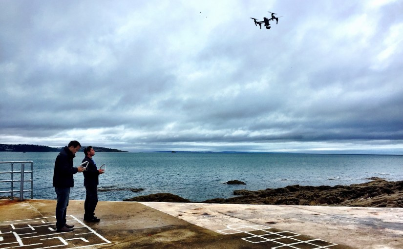 Drone use at Shoalstone Pool