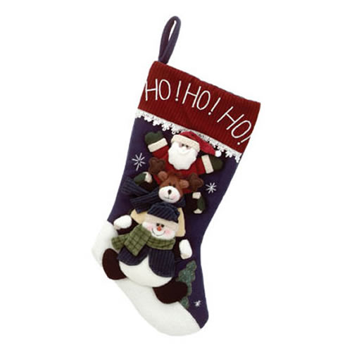 Plush Santa Reindeer Snowman Christmas Stocking