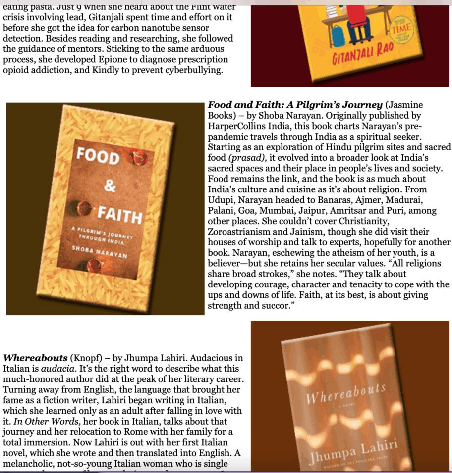 Khabar magazine food and faith book review