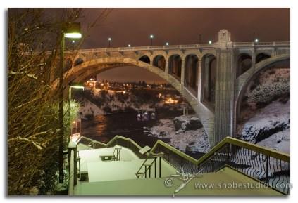 Lights from the Monroe St. Bridge