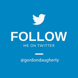 Follow on Twitter @Gordondaugherty