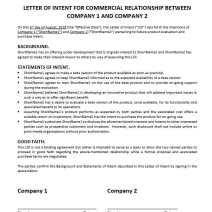Letter of Intent (Beta / Pilot Test)