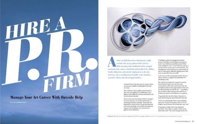 Shoebox PR is in Professional Artist Magazine