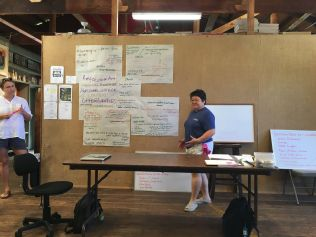 Kaipaipai at Donkey Mill Art Center, Summer 2016. Photo Credit Laurie Sumiye