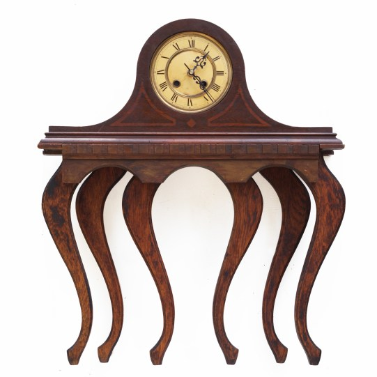 Scott Rolfe Clocktopus Clock, end table and other furniture parts 24 x 23 x 6 inches https://www.srolfe.com/