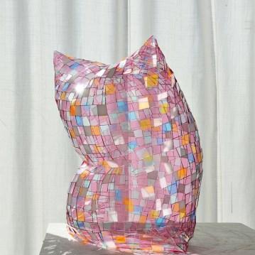 """Colin Roberts Pink Multi 4 20 x 20 x 13"""" Plexiglass http://www.colinrobertsart.com/"""