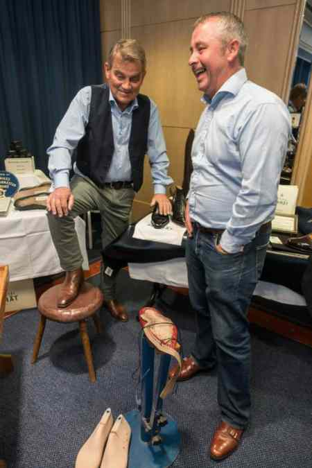 Another generation of bespoke shoemakers, Janne Melkersson to the left and Tony Slinger to the right.