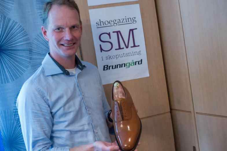 Johan Wennerholm, Swedish Champion in Shoe shining 2015.