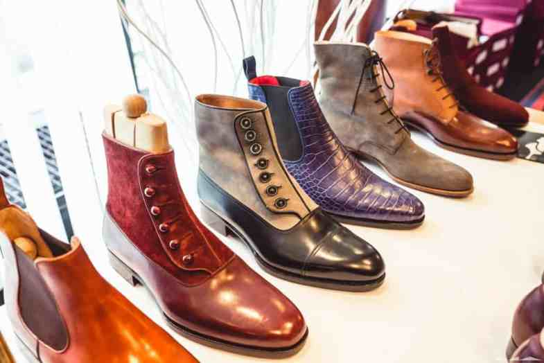 Gorgeous button boots from Maftei. Last four pictures: Milad Abedi