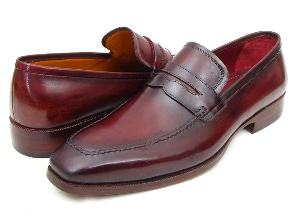 Blake stitched penny loafer in a deep burgundy shade.