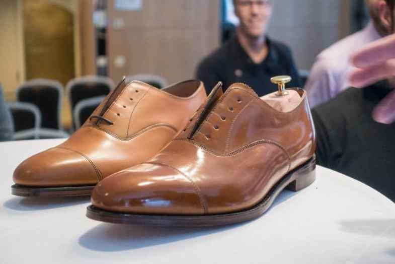 The winning shoe in last year's Swedish Championship in shoe shining, polished by Johan Wennerholm.