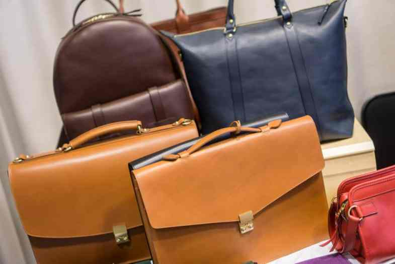 Classic briefcases and more casual bags from Frank Clegg.