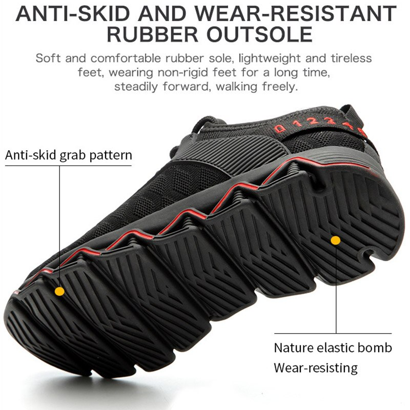 JACKSHIBO New Design Safety Work Shoes Boots For Men Anti-Smashing Steel Toe Boots Men Construction Shoes Safety Boots Sneakers 4