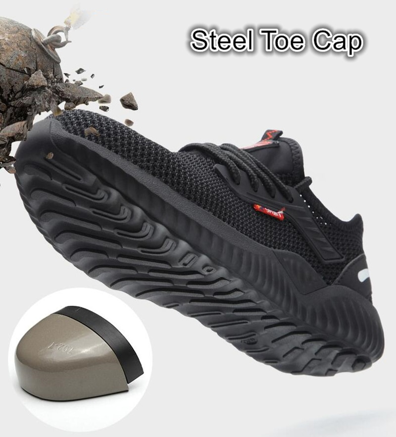Indestructible Shoes Men Safety Work Shoes with Steel Toe Cap Puncture-Proof Boots Lightweight Breathable Sneakers Dropshipping 2
