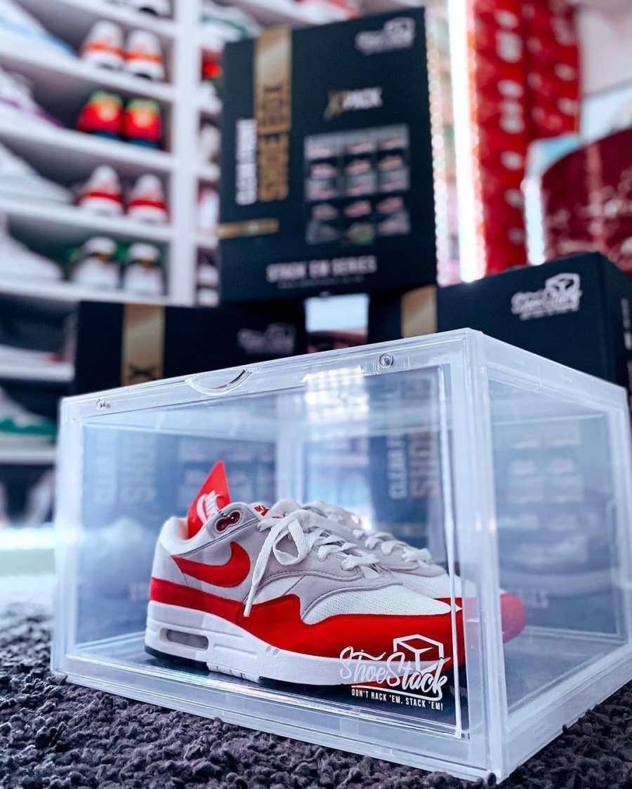 sneaker storage box clear