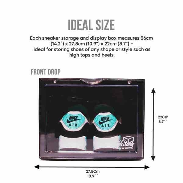sneaker storage box large sizer