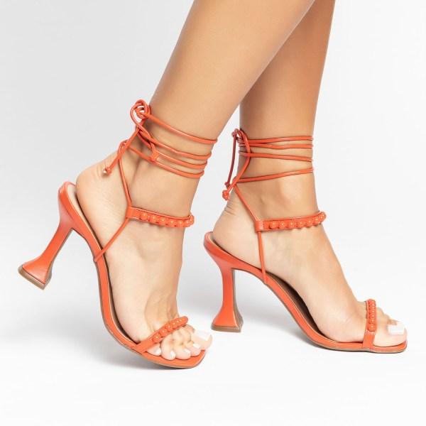 Sandália-Feminina-salto-taça-verão-2021-laranja-amarrações-aplicações-shoes-to-love-loja-online-calçados-femininos-tendencias-