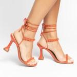 Sandália Feminina salto taça verão 2021 laranja amarrações aplicações shoes to love loja online calçados femininos tendencias (19)