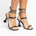 Sandália Feminina salto taça verão 2021 preta balck aplicações shoes to love loja online calçados femininos tendencias (23)