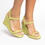 sandalia Feminina anabela plataforma flatform verão 2021 avocado abacate verde detalhes em trança shoes to love loja online calçados femininos tendencias (6)