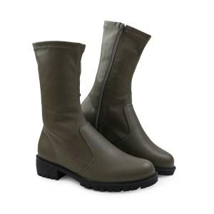Bota-Strech-cano-curto-verde-musgo-com-ziper-na-parte-interna-loja-on-line-inverno-2021