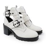 Open Boot Cano curto solado tratorado off white modelo com tachas e fivela on line melhores preços tendencia2