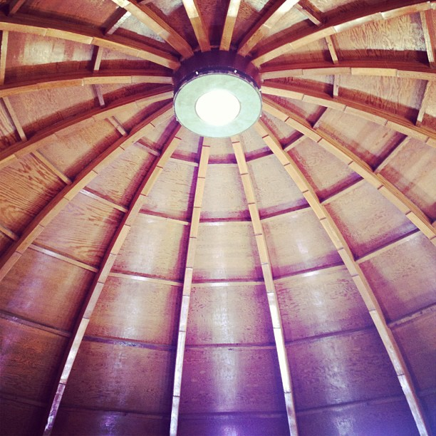 View from inside the Integratron