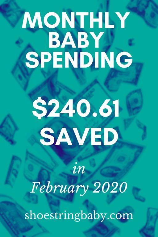 Monthly baby spending for February 2020