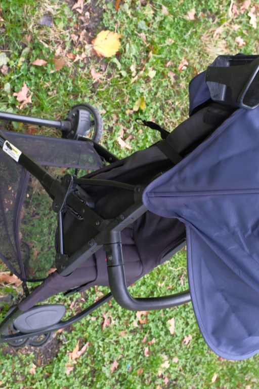Canopy coverage of a Zoe XL1 stroller