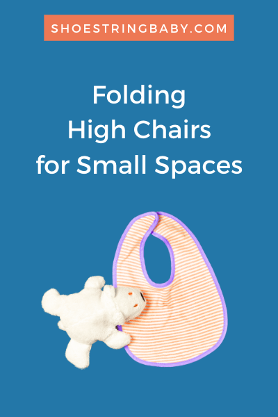 Folding high chairs for small spaces