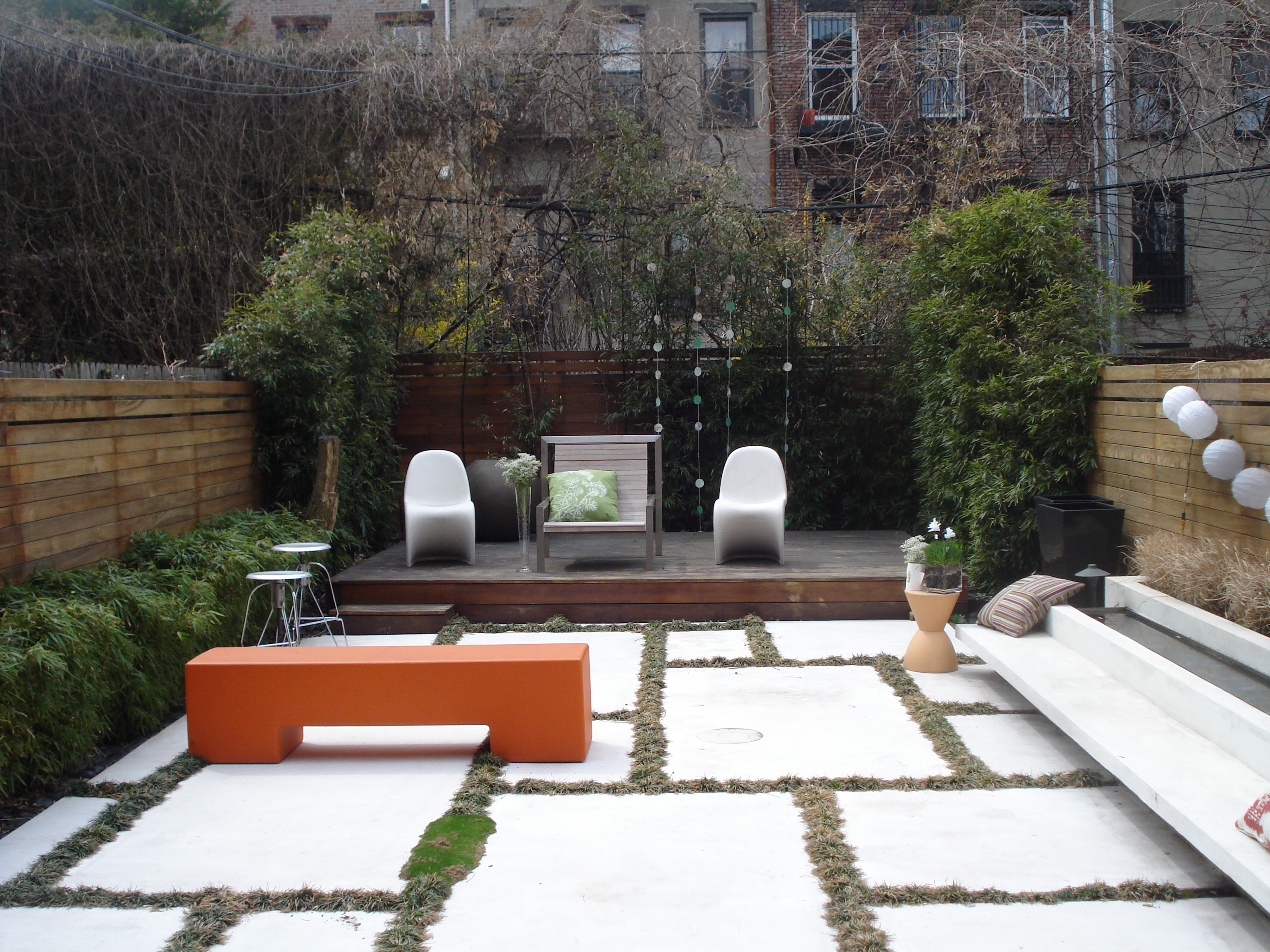 A Zen backyard gets a touch of whimsy.