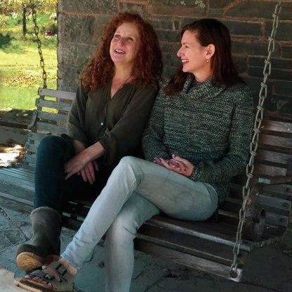 Cara and Lori 'talking shoes'