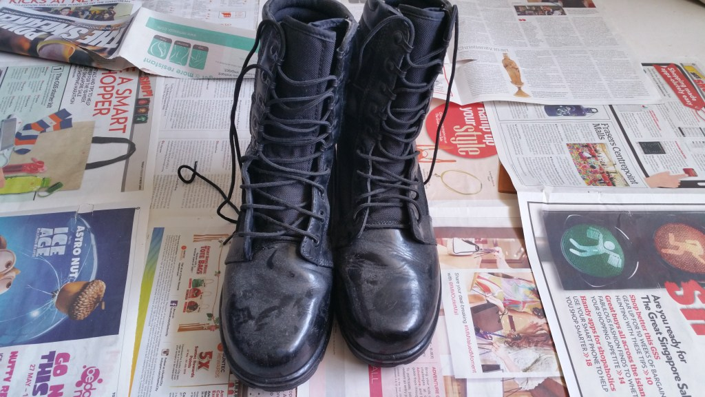 Old dirty SAF Boots