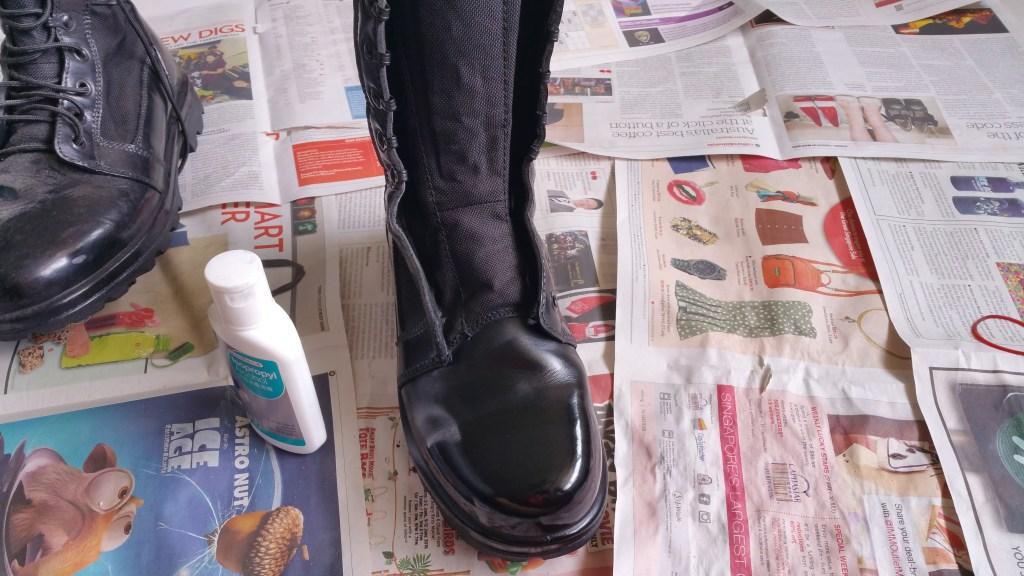 mirror shine boots