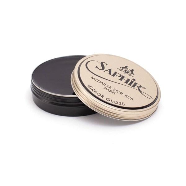 saphir mirror gloss wax polish black