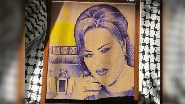لوحة للفنانة أحلام داخل سجون إسرائيل