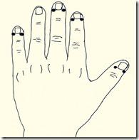 爪の生え際